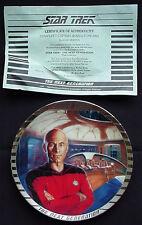 Star Trek Plate TNG Ernst 'Captain Jean-Luc Picard' RARE PLATINUM RIM #1342