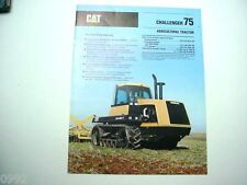 Caterpillar Challenger 75 Agricultural Tractor Brochure 12 Pages               #