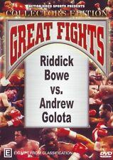 RIDDICK BOWE VS ANDREW GOLOTA BOTH FIGHTS - 2 DISC SET BOXING DVD