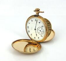 1920's Elgin Fancy Carved Bird Hunter Case & Movement 14K Gold Pocket Watch