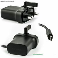 Original UK Wall Mains Charger Adapter Lead For Nokia N8 N9 E5 E7 Lumia 800 X3