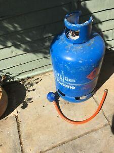 CALOR 15kg butane gas bottle FULL with regulator & hose connection