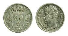 pcc1136_7) Francia Charles X, 1/4 Franc, 1829 W, Lille - Rara
