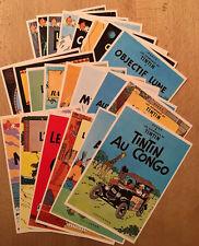 TINTIN - Cartes Postales Arno - Série Complète des 22 Couvertures - 1981 - NEUF