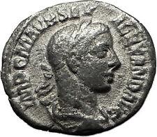 SEVERUS ALEXANDER 226AD Silver Genuine Ancient  Roman Coin ANNONA Wealth i59205