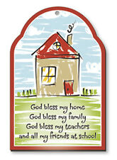 GOD BLESS MY HOME, FAMILY, TEACHERS, FRIENDS WOODEN PLAQUE OTHER TYPES LISTED