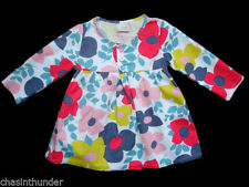 Girls' Floral 3/4 Sleeve Sleeve Tunic T-Shirts & Tops (2-16 Years)