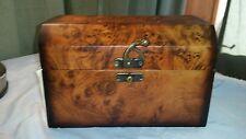WOODEN HOME DECOR latch JEWELRY BOX/TRINKET HOLDER STASH BOX 9 x 5.5 inches