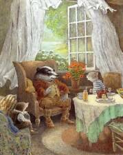 Wind in the Willows..Original Vintage Book Print MOUNTED..