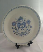 "Lotte Turi-Design Norway 10"" Dinner Plate Woman Figgjo Handpainted Silkscreen"