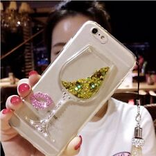 Liquid Bling Star Wineglass Quicksand Case Cover For iPhone X 6 6S 7 8 Plus