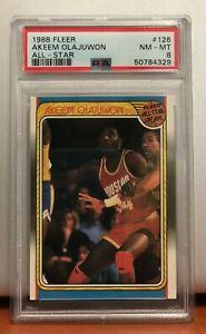 Akeem Olajuwon 1988-89 Fleer All Star #126 PSA 8
