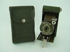 Eastman Kodak Boy Scout Folding Camera 1930s Olive Green w/case - Rare