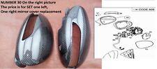 1Carbon Fiber mirror covers fор  Mercedes Benz A2198100164 9999 CL500  Cl63 AMG