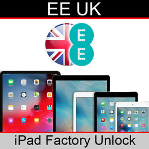 EE UK iPad Factory Unlocking Service (All Models Supported)