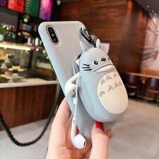 Dibujos Animados 3D Billetera Teléfono Estuche Para iPhone 11 Pro Max Case 6s 8 Plus Xr Lindo