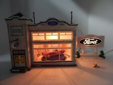 Dept 56 The Original Snow Village Uptown Motors Ford #56774 Good Condition
