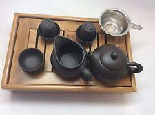 Yixing Clay  Tea Set(yixing Zhisha) With Medium Size Bamboo Tea Tray