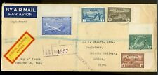 Special Delivery Airmail to Ireland 1946 PEACE issue cover Canada