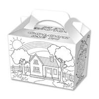 20 Colouring In Boxes - Food Loot Lunch Cardboard Gift Childrens Kids