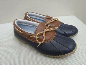 JBU JAMBU GWEN GARDEN READY 8.5 Blue Brown Vegan Rubber Duck Slip On Clogs Shoes