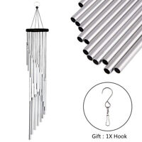 18 Metal Tube Wind Chimes Hanging Ornament Outdoor Garden Yard Decor Wind Bell