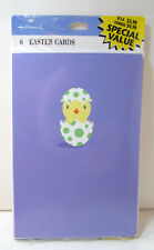 Hallmark 6 Easter Cards - Easter Chick - Happy Egg Day! NEW!