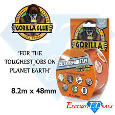 GORILLA Clear Waterproof Repair Tape 8.2M Long x 48mm Thick - Super Strong