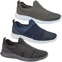 Mens Lightweight Trainers Fitness Gym Sports Comfy SlipOn Elasticated Shoes Size