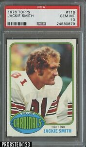 1976 Topps Football #116 Jackie Smith St. Louis Cardinals HOF PSA 10 GEM MINT