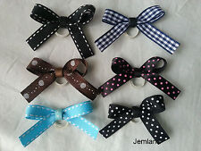 Jemlana's  handmade dog,cat,pet grooming bows (for 6 bows)