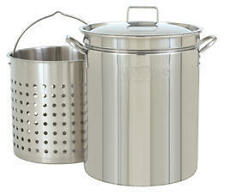 Bayou Classic 1160 62 Qt. Stainless Boil-Steam-Fry Pot NEW