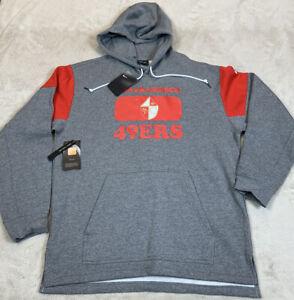 NWT'S Nike San Francisco 49ers NFL Hoodie Sweatshirt Men's SZ M Gray Rare