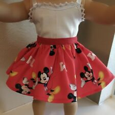 Doll Clothes ~ Skirt ONLY ~ DISNEY MICKEY MOUSE  Fits 18 inch American Girl 4851