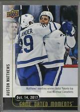 2017-18 17/18 Upper Deck UD Game Dated Moments 7 Auston Matthews Maple Leafs