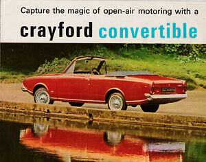 FORD CRAYFORD CONVERTIBLE CORSAIR V4 BROCHURE, ALSO MENTIONED NEW CORTINA MK2.