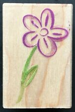 Artist'S Daisy Flower Sketch Symbol Hero Arts Wood Rubber Stamp