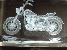 Lead Crystal Motorcycle Paperweight