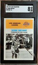1998-99 Fleer Tradition Kobe Bryant Vintage '61 SGC 8 NM_MT with Michael Jordan