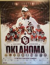 2012, 2016, 2017 OKLAHOMA SOONERS SCHEDULE FOOTBALL POSTERS OU MAYFIELD MIXON