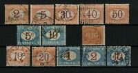 P03/ITALY, 1869/1903, POSTAGE DUE LOT, USED, CV 465€