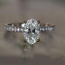 Oval Diamond Engagement Ring - Set in Platinum Diamonds Down Shank - HD VIDEO