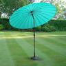 Turquoise 2.6m Aluminium Parasol Umbrella Adjustable Crank Tilt Patio Sun Shade