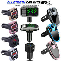Wireless Bluetooth Car Kit FM Transmitter MP3 Player Handsfree Dual USB Charger