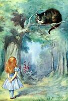 ALICE AND THE CHESHIRE CAT, FROM ALICE IN WONDERLAND, FRIDGE MAGNET