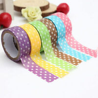 FD4432 Dot Print Washi DIY Masking Paper Roll Tape Decorative Adhesive Sticker