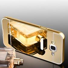 Luxus Aluminium Metall Spiegel Bumper Case Back Cover Tasche Schutz Hülle