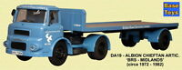 Base Toys Albion Lad Artic FlatBed BRS DA19-Special OO Scale (suit HO also)