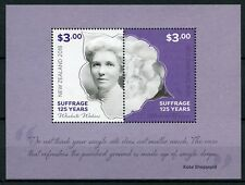 New Zealand NZ 2018 MNH Suffrage 125 Years Kate Sheppard Camellias 2v M/S Stamps