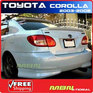 For 03-08 Toyota Corolla Rear Trunk Spoiler Painted ABS 8P4 DARK BLUE MICA MET